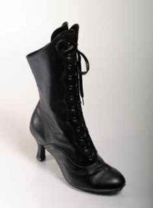 MOULIN ROUGE DANCE BOOTS BLACK PU